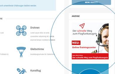 Flugschulverzeichnis - Square Banner / BSP